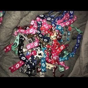 10 Lip Print Hair Ties- You Pick Colors